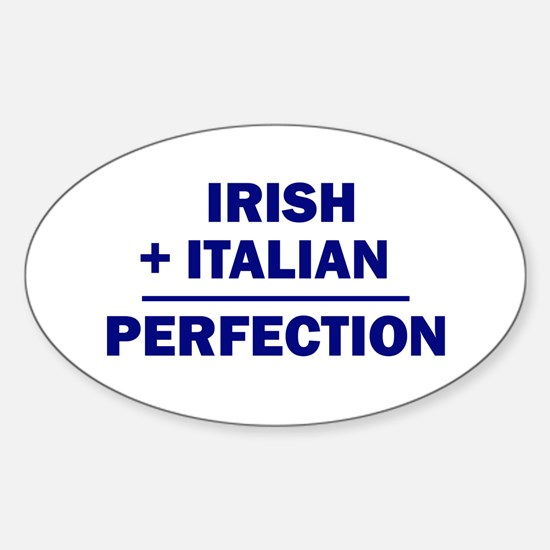 Italian + Irish Oval Decal