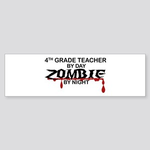 4th Grade Zombie Sticker (Bumper)