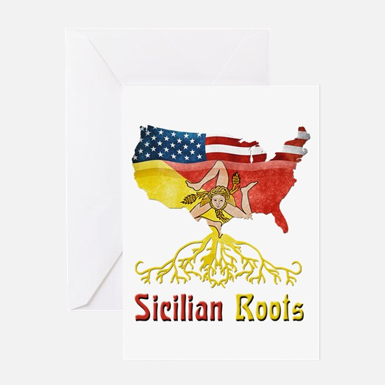 American Sicilian Roots Greeting Card
