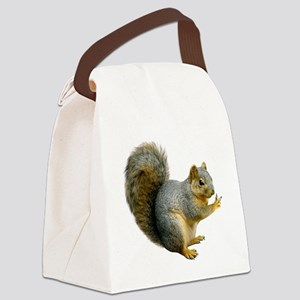 Peace Squirrel Canvas Lunch Bag