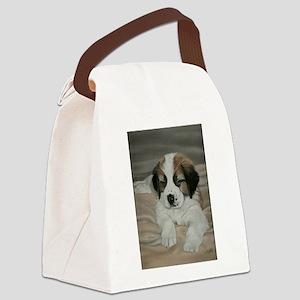 saint bernard puppy Canvas Lunch Bag
