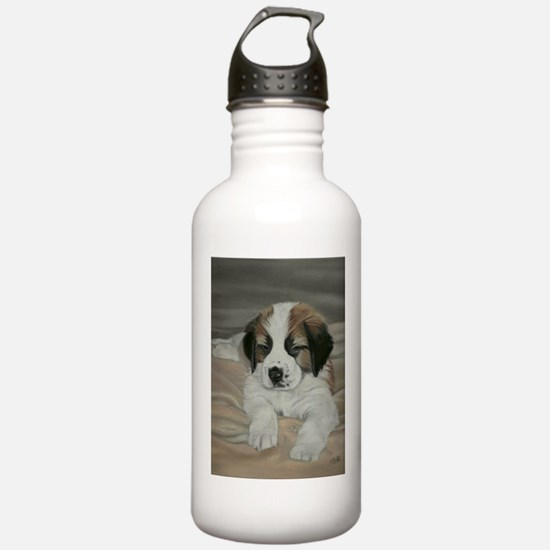 saint bernard puppy Water Bottle