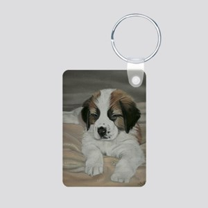 saint bernard puppy Aluminum Photo Keychain