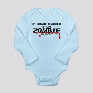 3rd Grade Zombie Long Sleeve Infant Bodysuit