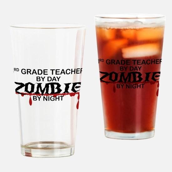3rd Grade Zombie Drinking Glass