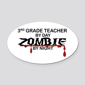 3rd Grade Zombie Oval Car Magnet