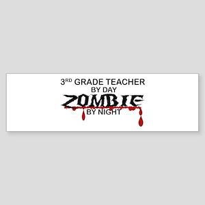 3rd Grade Zombie Sticker (Bumper)