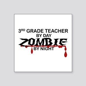 "3rd Grade Zombie Square Sticker 3"" x 3"""