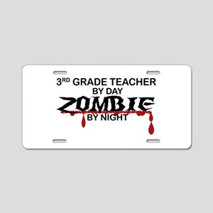 3rd Grade Zombie Aluminum License Plate