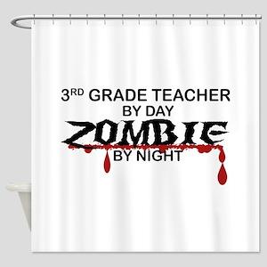 3rd Grade Zombie Shower Curtain