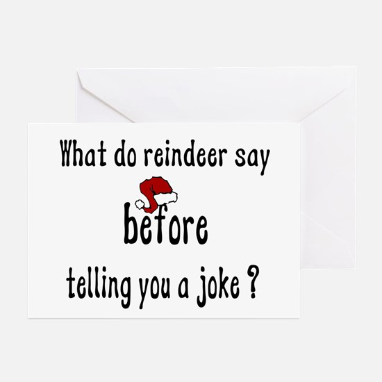 What Do Reindeer Say Greeting Cards (Pk of 10)