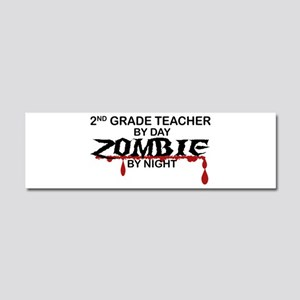 2nd Grade Zombie Car Magnet 10 x 3
