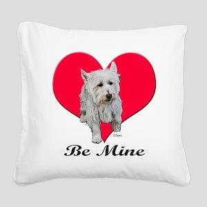 blwestie2valtshirt Square Canvas Pillow