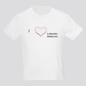 I heart Labrador Retrievers Kids T-Shirt