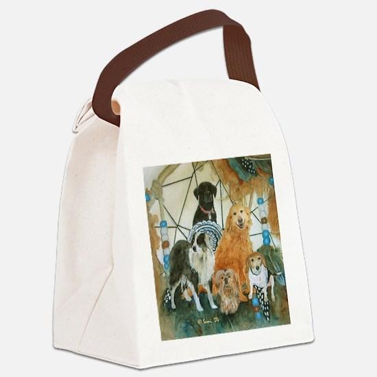 dcclock.png Canvas Lunch Bag