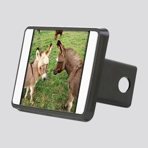 Two Baby Donkeys Rectangular Hitch Cover