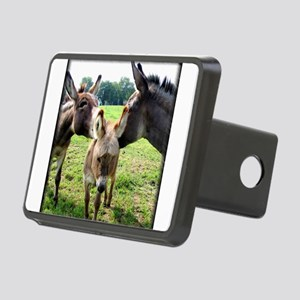Miniature Donkey Family Rectangular Hitch Cover