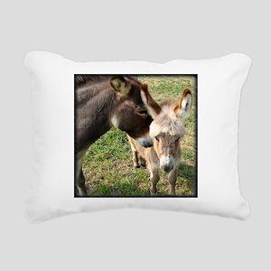 momdonkeykisstee Rectangular Canvas Pillow
