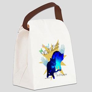 catmastertshirtbl Canvas Lunch Bag