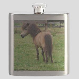 Miniature Horse Buckin Velvet Flask