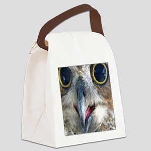 Great Horned Owl Eyes Canvas Lunch Bag
