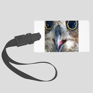 Great Horned Owl Eyes Large Luggage Tag