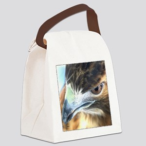 Red Tail Hawk Side Portrait ( Canvas Lunch Bag