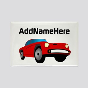 Sports Car, Custom Name Rectangle Magnet