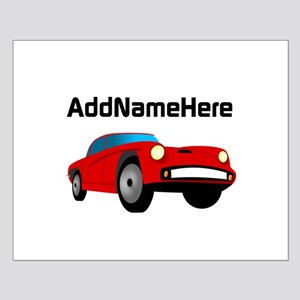 Sports Car, Custom Name Small Poster