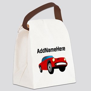 Sports Car, Custom Name Canvas Lunch Bag