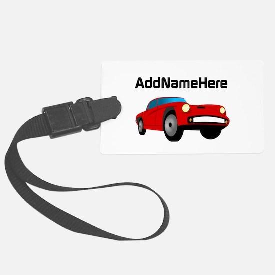 Sports Car, Custom Name Luggage Tag