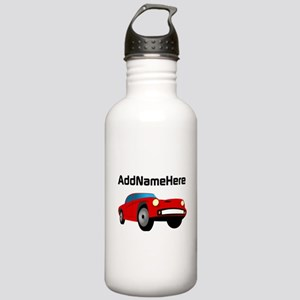 Sports Car, Custom Name Stainless Water Bottle 1.0