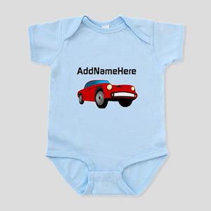 Sports Car, Custom Name Infant Bodysuit