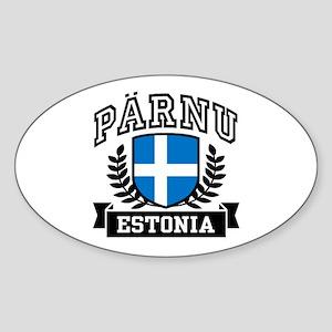Parnu Estonia Sticker (Oval)