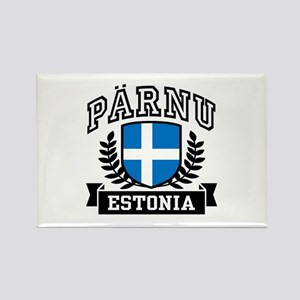 Parnu Estonia Rectangle Magnet
