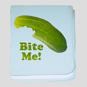 Bite Me! Pickle baby blanket