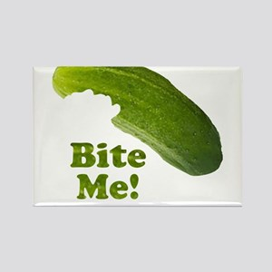 Bite Me! Pickle Rectangle Magnet