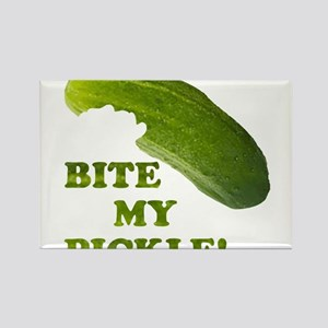 Bite My Pickle! Rectangle Magnet