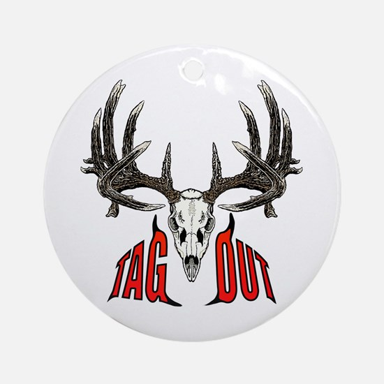 Tag Out whitetail Ornament (Round)