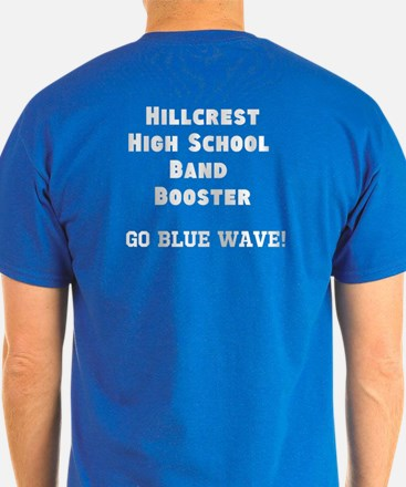 Blue Wave Band Booster T-Shirt (Front and Back)