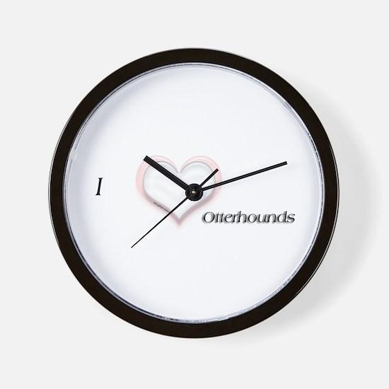 I heart Otterhounds Wall Clock