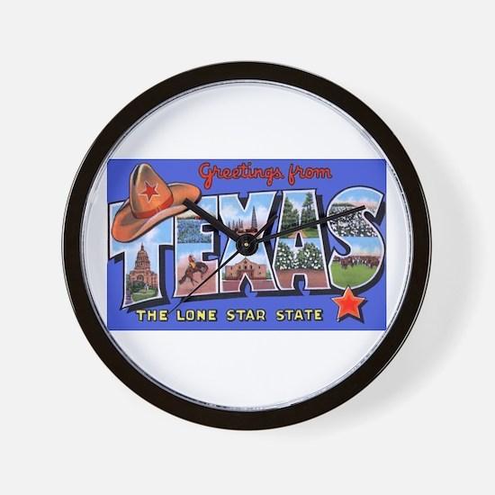 Texas Greetings Wall Clock