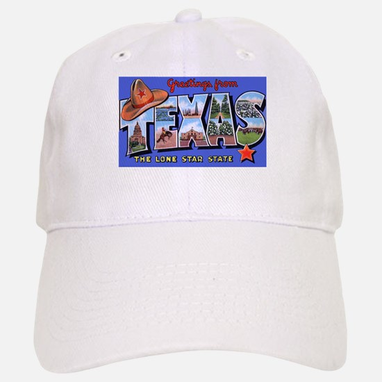 Texas Greetings Baseball Baseball Cap
