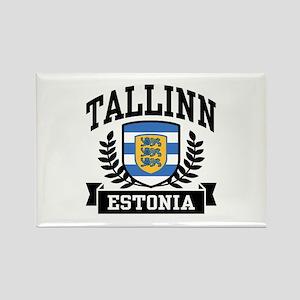 Tallinn Estonia Rectangle Magnet