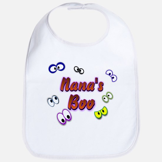 Nana's Boo Halloween Eyes Bib