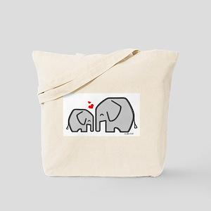 Elephants (4) Tote Bag