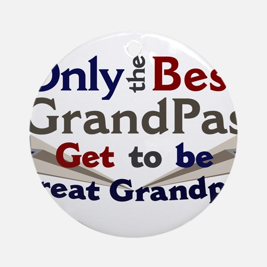 Best Great Grandpa 2 Ornament (Round)