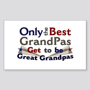 Best Great Grandpa 2 Sticker (Rectangle)