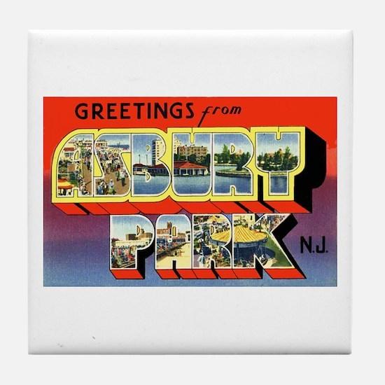 Asbury Park New Jersey Tile Coaster