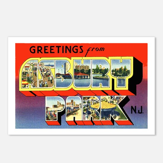 Asbury Park New Jersey Postcards (Package of 8)